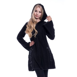 INNOCENT LIFESTYLE - Embroidered Fleece Hood Ladies Black *NEW IN*