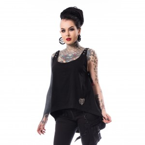 HEARTLESS - Emmi Top Ladies Black *NEW IN-a*