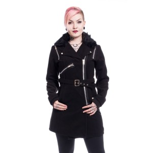 VIXXSIN - Endora Coat Ladies Black *NEW IN*
