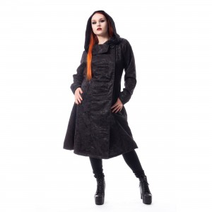POIZEN INDUSTRIES - ETERNAL ROSE COAT LADIES BLACK |c|