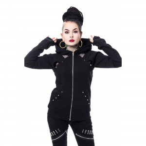 CHEMICAL BLACK - EVIE HOOD LADIES BLACK |c|