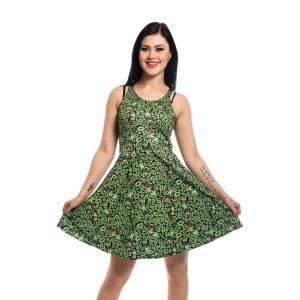 BATMAN - FATAL LIPS DRESS LADIES GREEN