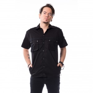 VIXXSIN - Filip Shirt Mens Black *NEW IN-a*