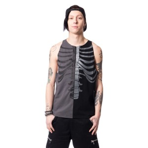 HEARTLESS - FRACTURE VEST MENS BLACK/GREY
