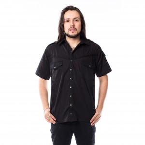 VIXXSIN - Frans Shirt Mens Black *NEW IN-a*