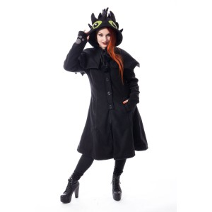 CUPCAKE CULT - Fury Coat Ladies Black *a1