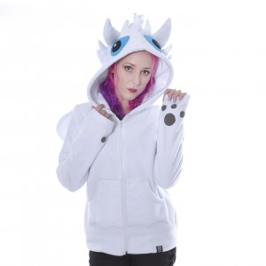 CUPCAKE CULT - Fury Hood Ladies White *a1