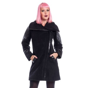 CHEMICAL BLACK - Galina Coat Ladies Black *NEW IN*