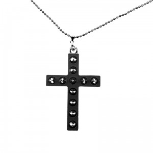 CUPCAKE CULT - GLAM CROSS P1 NECKLACE LADIES BLACK