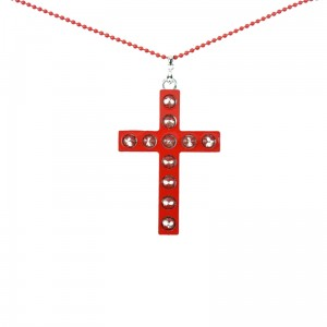 CUPCAKE CULT - GLAM CROSS P1 NECKLACE LADIES RED