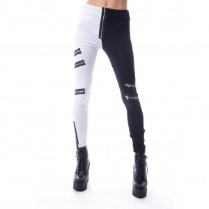 VIXXSIN - Groopie Leggings Ladies Black/White *a1