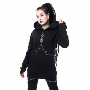 HEARTLESS - HALENA HOOD LADIES BLACK |b|