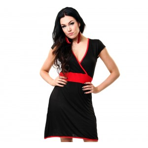 INNOCENT LIFESTYLE - HANA DRESS LADIES BLACK/RED