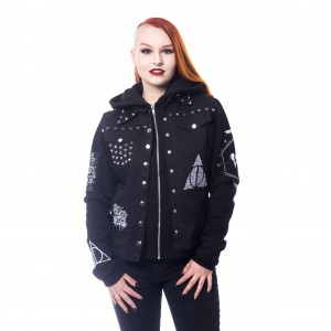 HARRY POTTER - HARRY POTTER KNIGHT JACKET LADIES BLACK
