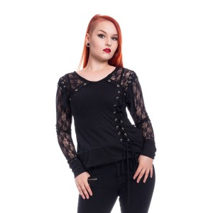 POIZEN INDUSTRIES - HASEL TOP LADIES BLACK