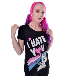 CUPCAKE CULT - Hate You T Ladies Black *a1
