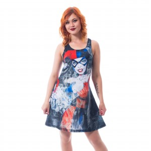 BATMAN - Harley Quinn Shadow Dress Ladies Black *a1
