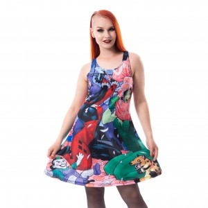 BATMAN - Harley Quinn Sleepover Dress Ladies Black *a1