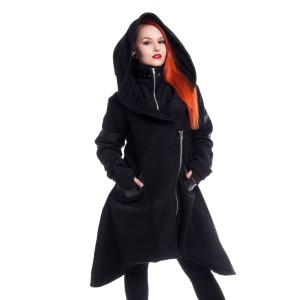 HEARTLESS - Hunch Coat Ladies Black *NEW IN*