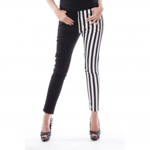 CHEMICAL BLACK - Ida Pants Ladies White/Black *NEW IN-a*