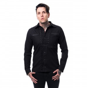 POIZEN INDUSTRIES - JACKSON SHIRT MENS BLACK |c|