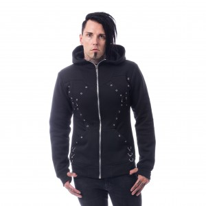 CHEMICAL BLACK - Jakal Hood Mens Black *a1