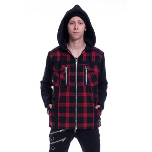 VIXXSIN - Jax Jacket Mens Red Check *NEW IN*