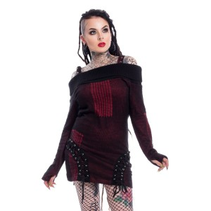 VIXXSIN - Jenny Top Ladies Dark Red *NEW IN*
