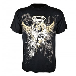 SUPERMAN - JUSTICE T MENS BLACK