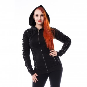 POIZEN INDUSTRIE - Kaisa Hood Ladies Black *NEW IN-a*