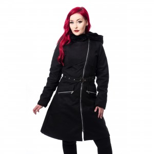 CHEMICAL BLACK - KIARA COAT LADIES BLACK |c|