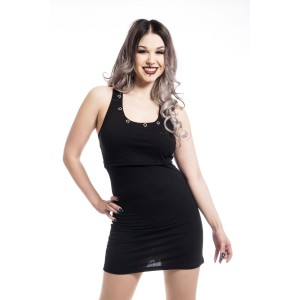 HEARTLESS - KIARA TOP LADIES BLACK