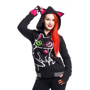 CUPCAKE CULT - KITTY MASE HOOD LADIES BLACK