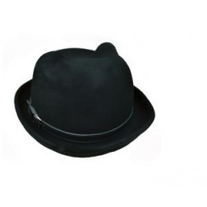 POIZEN INDUSTRIES - KITTY BOWLER HAT LADIES BLACK