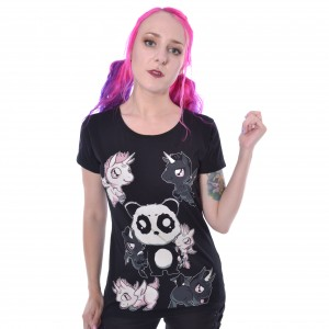 KILLER PANDA - Kp Killer Unicorns T Ladies Black *a1