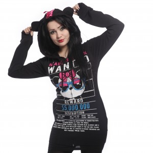 KILLER PANDA - KP HEART BREAKER HOOD LADIES BLACK