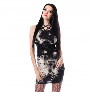 HEARTLESS - Krista Tie Dye Dress Ladies Black *NEW IN-a*