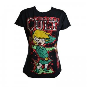 CUPCAKE CULT - LEGEND OF ZOMBIE T LADIES BLACK