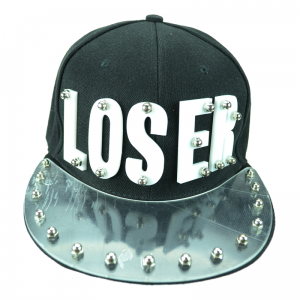 POIZEN INDUSTRIES - LOSER CAP LADIES BLACK/WHITE