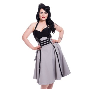 HEARTLESS - Lucya Dress Ladies Grey *NEW IN*