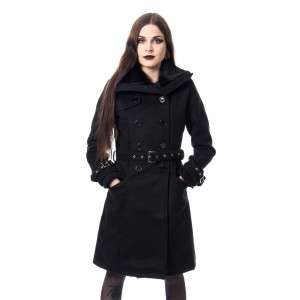 POIZEN INDUSTRIES - LUTANA COAT LADIES BLACK |c|