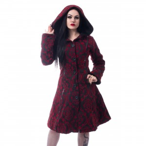 POIZEN INDUSTRIES - MANSION COAT LADIES RED |c|