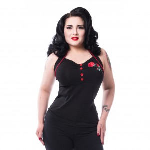 VIXXSIN - Marianne Top Ladies Black *NEW IN-a*