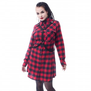 VIXXSIN - MASTER SHIRT LADIES RED CHECK |c|