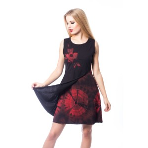 INNOCENT LIFESTYLE - MAYA DRESS LADIES BLACK/RED |b|a