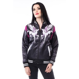 VIXXSIN - Maya Varsity Jacket Ladies Black *NEW IN-a*