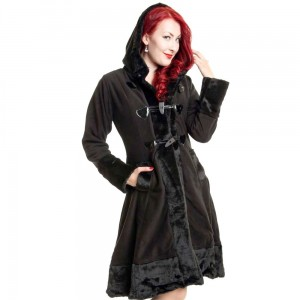 POIZEN INDUSTRIES - MINX COAT LADIES BLACK SIZE XL CLEARANCE