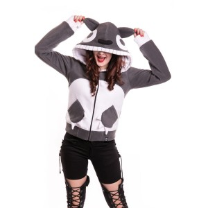 CUPCAKE CULT - MORO HOOD LADIES GREY/WHITE