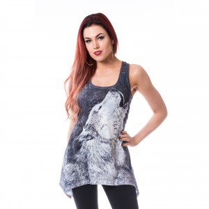 INNOCENT LIFESTY - Netta Lace Panel Vest Ladies Grey/White *NEW IN-a*