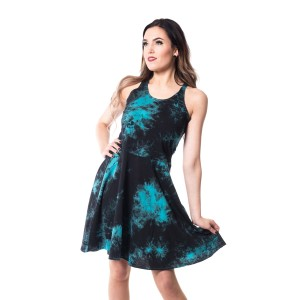 INNOCENT LIFESTYLE - NINA TIE DYE DRESS LADIES BLACK/BLUE